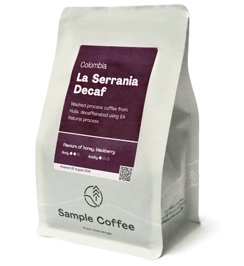 Single Origin Decaf bag