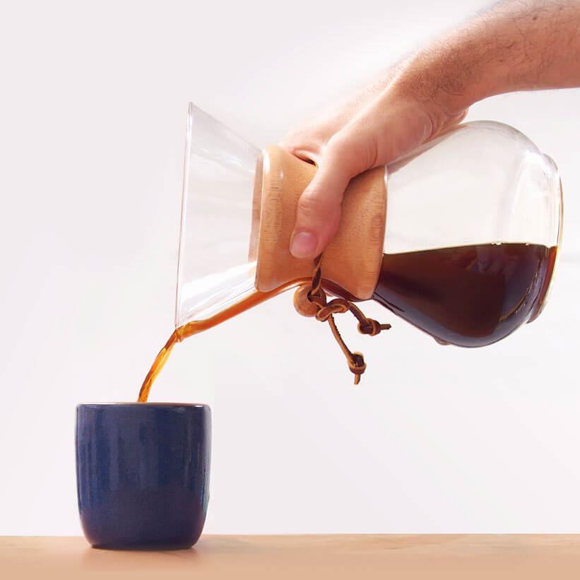 Making chemex coffee at home